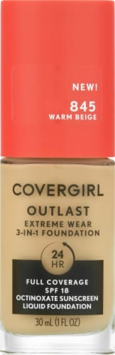 CoverGirl Outlast Extreme Wear 845 Warm Beige Foundation Perspective: front
