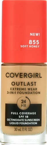 CoverGirl Outlast Extreme Wear 855 Soft Honey Foundation Perspective: front