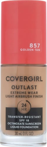 CoverGirl Outlast Extreme Wear 857 Golden Tan Foundation Perspective: front