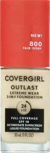 CoverGirl Outlast Extreme Wear 800 Fair Ivory Foundation Perspective: front