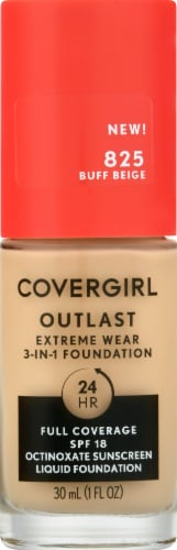 CoverGirl Outlast Extreme Wear 825 Buff Beige Foundation Perspective: front