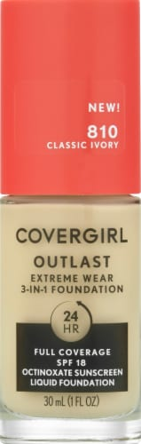 CoverGirl Outlast Extreme Wear 810 Classic Ivory Foundation Perspective: front