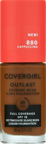 CoverGirl Outlast Extreme Wear 880 Cappuccino Foundation Perspective: front