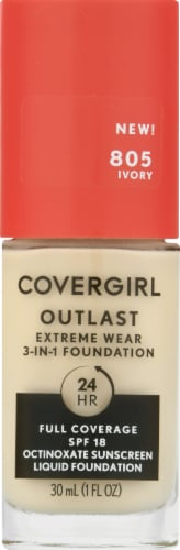 CoverGirl Outlast Extreme Wear 805 Ivory Foundation Perspective: front