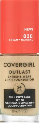 CoverGirl Outlast Extreme Wear 820 Creamy Natural Foundation Perspective: front