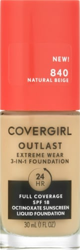 CoverGirl Outlast Extreme Wear 840 Natural Beige Foundation Perspective: front