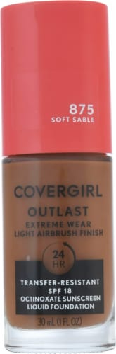 CoverGirl Outlast Extreme Wear 875 Soft Sable Foundation Perspective: front