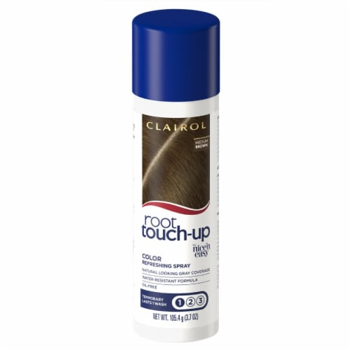 Clairol Root Touch-up Medium Brown Color Refreshing Spray Perspective: front