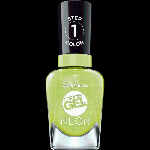 Sally Hansen Miracle Gel Neon 052 Electri-Lime Nail Color Perspective: front