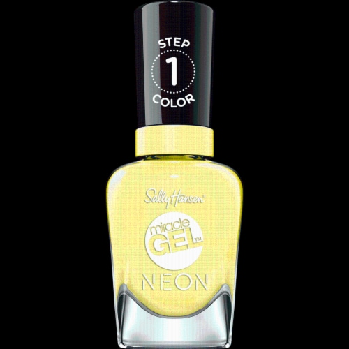 Sally Hansen Miracle Gel Neon 055 Lemon-Chilo Nail Color Perspective: front