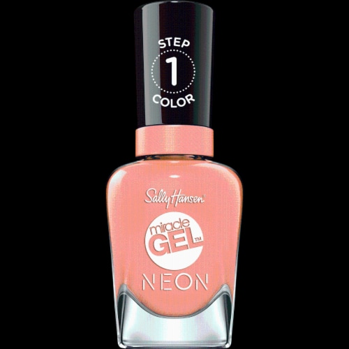 Sally Hansen Miracle Gel Neon 051 Peach Please Nail Color Perspective: front
