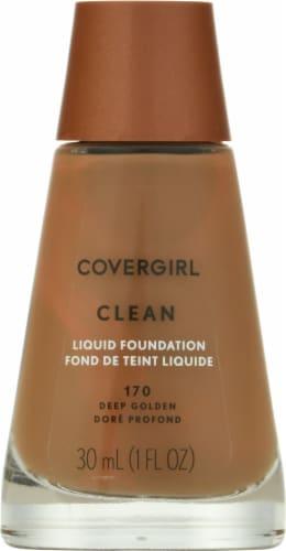 CoverGirl Clean 170 Deep Golden Liquid Foundation Perspective: front