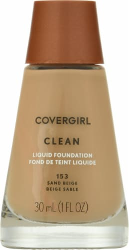 CoverGirl Clean 153 Sand Beige Liquid Foundation Perspective: front