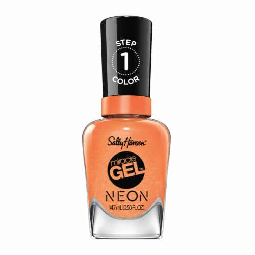 Sally Hansen Miracle Gel Neon Squeeze the Day Step 1 Nail Color Perspective: front