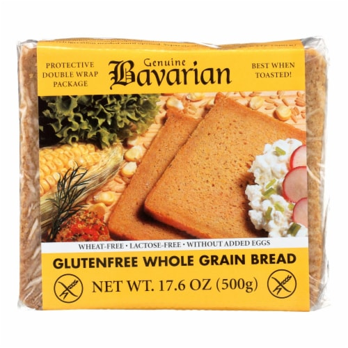 Genuine Bavarian Organic Bread - Whole Grain - Case of 6 - 17.6 oz. Perspective: front