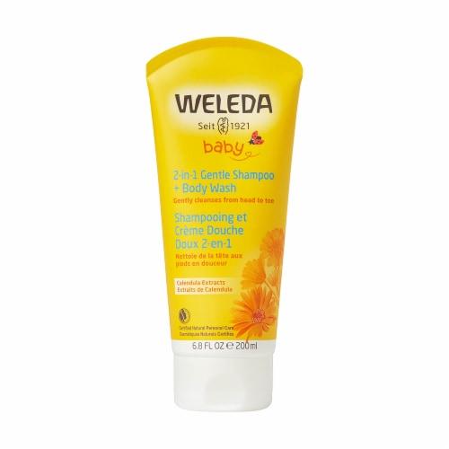 Weleda Baby Calendula Extract 2-in-1 Gentle Shampoo + Body Wash Perspective: front