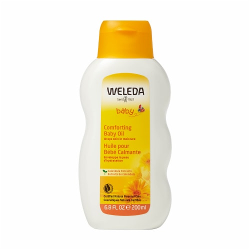 Weleda Baby Comforting Baby Oil Perspective: front