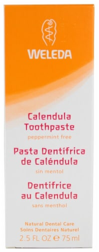Weleda  Calendula Toothpaste Peppermint Free Perspective: front