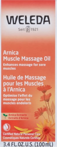 Weleda Arnica Muscle Massage Oil Perspective: front