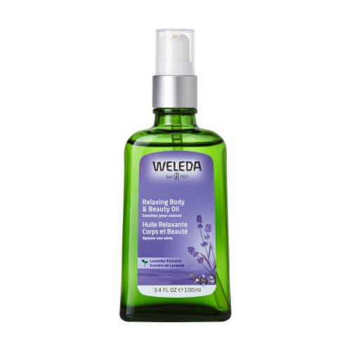 Weleda Relaxing Lavender Body Oil Perspective: front