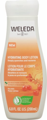 Weleda Hydrating Sea Buckthorn Body Lotion Perspective: front