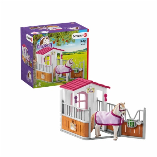 Schleich Horse Stall with Lusitano Horses Playset Perspective: front
