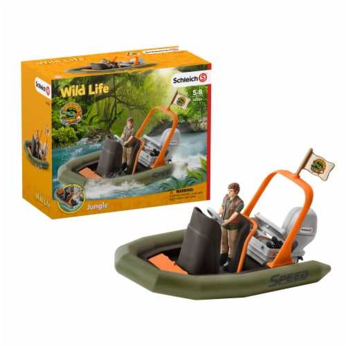 Schleich Wild Life Dinghy & Ranger Perspective: front