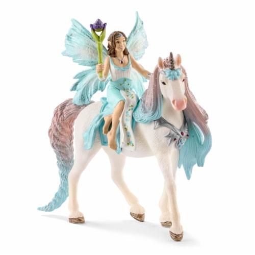 Schleich Bayala Fairy Eyela with Princess Unicorn Figurine Perspective: front