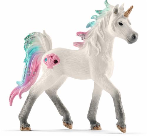 Schleich Sea Unicorn Foal Figurine Perspective: front