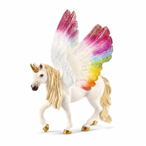 Schleich Bayala Winged Rainbow Unicorn Figurine Perspective: front