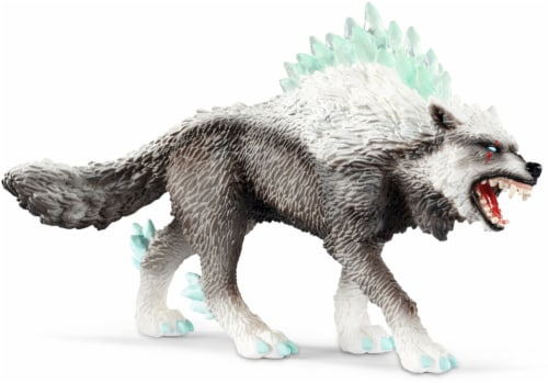 Schleich Eldrador Creatures Snow Wolf Figurine Perspective: front