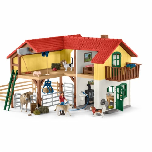 Schleich Farm World Large Farm House Playset Perspective: front