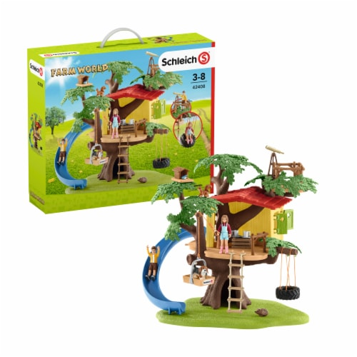 Schleich Farm World Adventure Tree House Playset Perspective: front