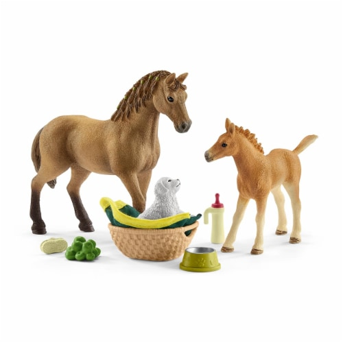 Schleich Sarah's Baby Animal Care Set Perspective: front