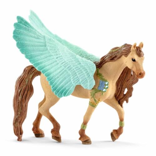 Schleich Bayala Decorated Pegasus Stallion Perspective: front