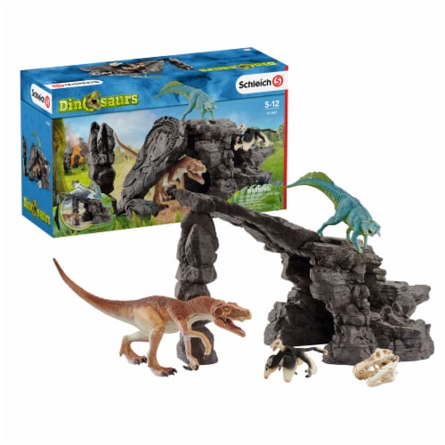 Schleich Dinosaurs Dinosaur Set with Cave Playset Perspective: front