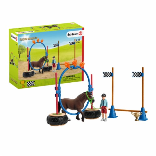 Schleich Farm World Pony Agility Race Playset Perspective: front