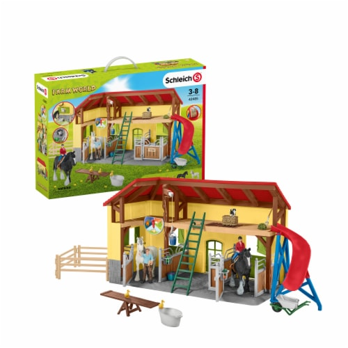 Schleich Farm World Horse Stable Playset Perspective: front