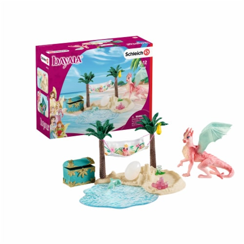 Schleich Dragon Island with Treasure Playset Perspective: front