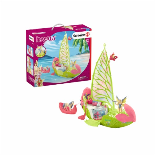 Schleich Bayala Sera's Magical Flower Boat Playset Perspective: front