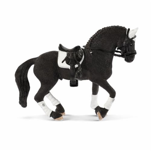 Schleich Frisian Stallion Riding Tournament Figurine Perspective: front