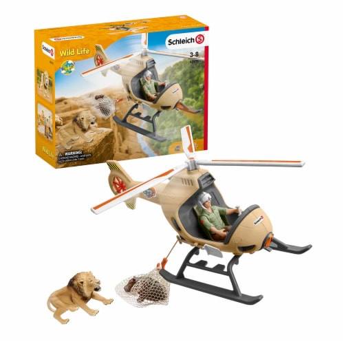 Schleich Animal Rescue Helicopter Playset Perspective: front