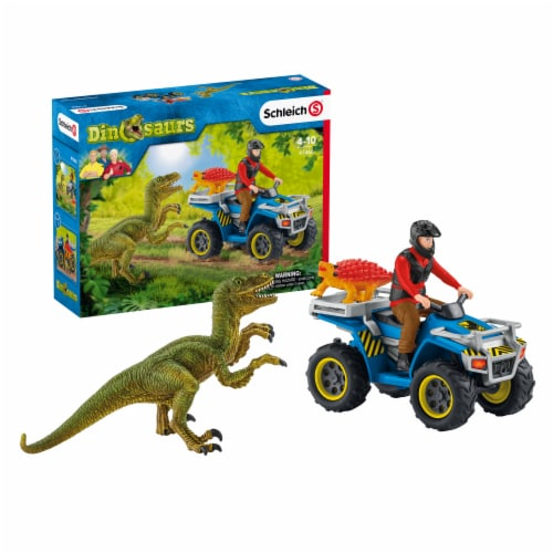 Schleich Dinosaurs Quad Velociraptor Escape Set Perspective: front