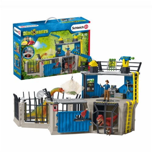 Schleich Large Dino Research Station Playset Perspective: front