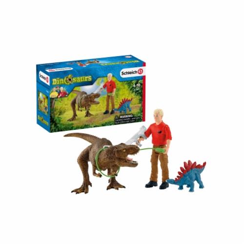 Schleich Tyrannosaurus Rex Attack Playset Perspective: front