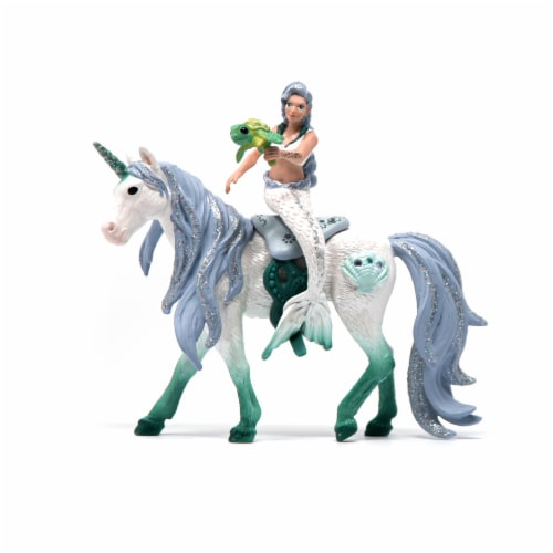 Schleich Mermaid Riding on Sea Unicorn Figurine Perspective: front