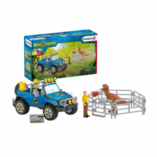 Schleich Dinosaurs Off-Road Vehicle with Dino Outpost Perspective: front
