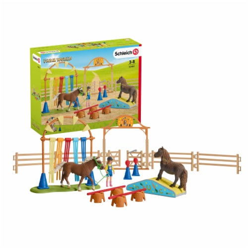 Schleich Farm World Pony Agility Training Playset Perspective: front