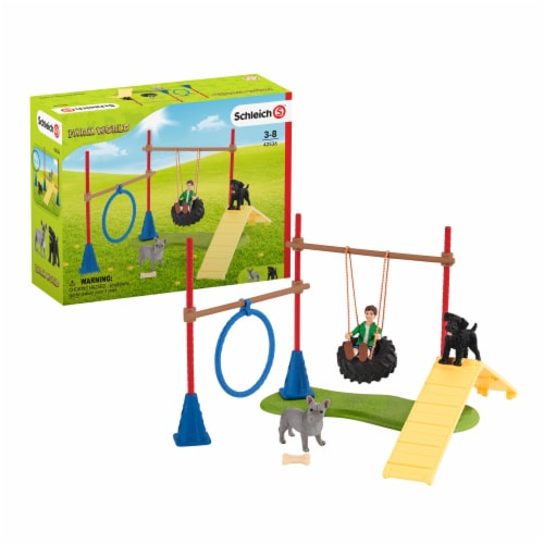 Schleich Farm World Puppy Agility Training Playset Perspective: front