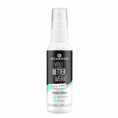 Essence You Better Work Gym Proof Fixing Spray Perspective: front